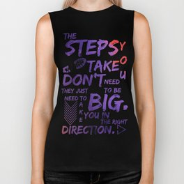 The Step You Tak Don't Need To Big - Jemma Simmons - Agents of SHIELD Biker Tank