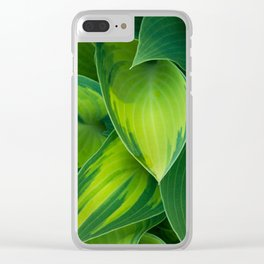 Hosta Camouflage Clear iPhone Case