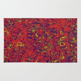 Ipad skins, Iphone, Computer, Canvas, Print, Red, Abstract, Funky Rug