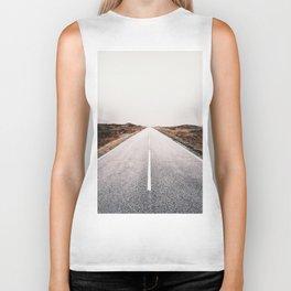 ROAD - HIGH WAY - LANDSCAPE - PHOTOGRAPHY - NATURE - ADVENTURE - SKY Biker Tank