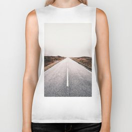 ROAD - HIGH WAY - LANDSCAPE - PHOTOGRAPHY - NATURE - ADVENTURE - SKY Biker Tank