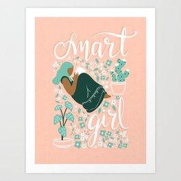 Smart Girl - v4 Art Print
