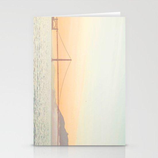 Pastel Golden Gate Stationery Cards