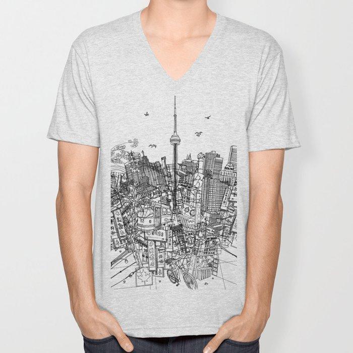 Toronto! (version #2) Unisex V-Neck