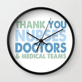 Thank You Nurses, Doctors & Medical Teams6+6+* Wall Clock