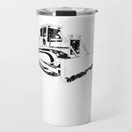 Dozer Construction Funny Cute Backhoe Bulldozer Black Big Travel Mug