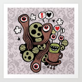 COSMIC LOVE ZONE Art Print