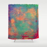 batik Shower Curtains featuring batik by Camila Rodrigué