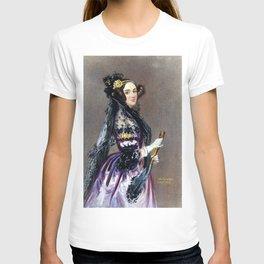 Portrait of Ada Lovelace by Alfred Edward Chalon T-shirt