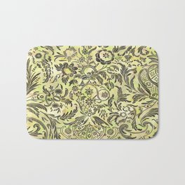 Watercolor Damask Pattern 03 Bath Mat