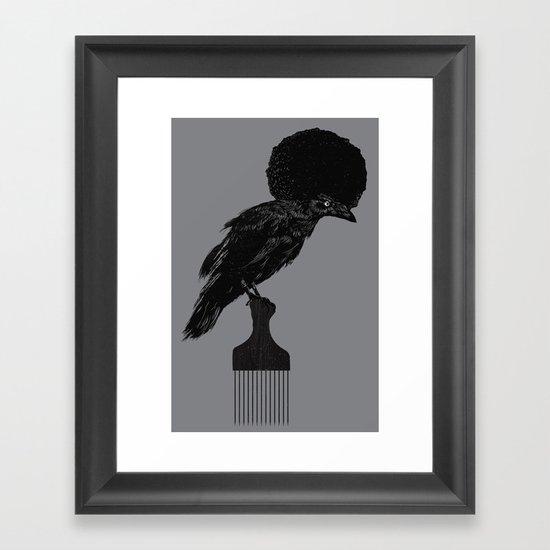 The Black Crow Framed Art Print