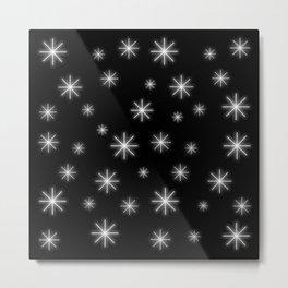 Stars - black and white Metal Print