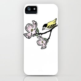 Dogwood Branch and Bird iPhone Case