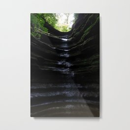 Waterfall at Starved Rock State Park Metal Print