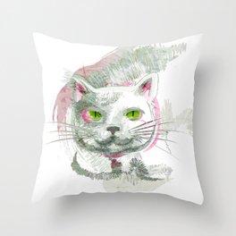 Tropical Cat Throw Pillow