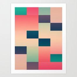 Abstract Summer Art Print