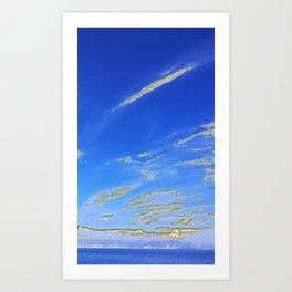 Mediterranean sky with mountains Art Print