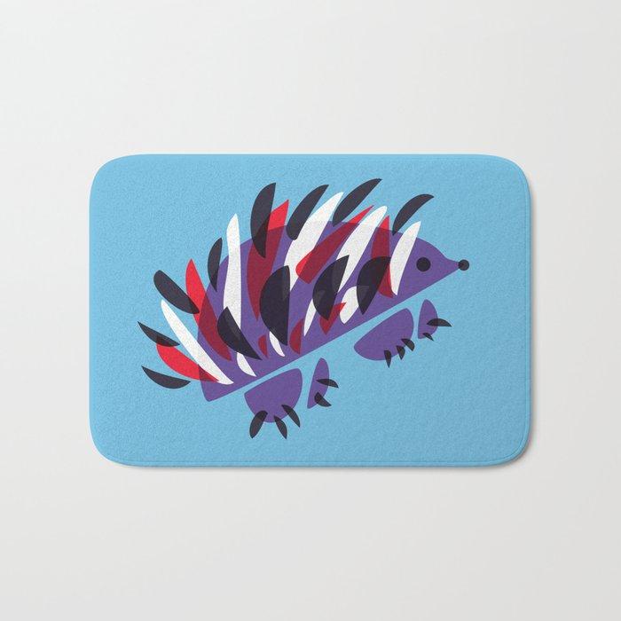 Colorful Abstract Hedgehog Bath Mat