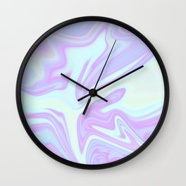 Unicorn Goo Liquid Holographic Texture Wall Clock