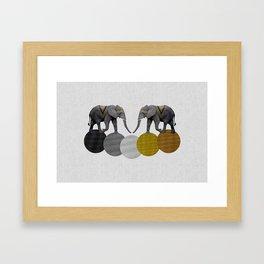 Tribal Elephants Framed Art Print