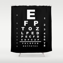 Inverted Eye Test Chart Shower Curtain