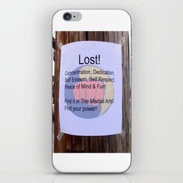 Karate T Shirt Lost iPhone Skin