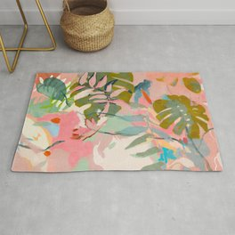 tropical home jungle abstract Rug