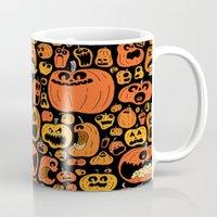 pumpkin Mugs featuring Pumpkin Pattern by Chris Piascik