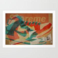 Nike Dunk Hi Pro SB Supreme | Highsnobiety Art Print