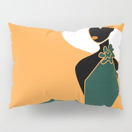 Midnight Citrus - Lady No 02 Pillow Sham