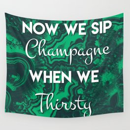 Sip Champagne Malachite Wall Tapestry