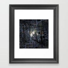 mostly indigo near denomination Framed Art Print