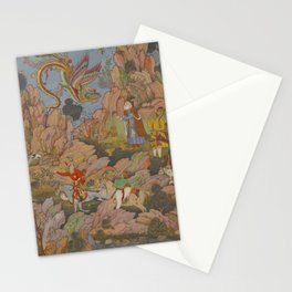 Indian MUGHAL MINIATURE Magic Bird Stationery Cards
