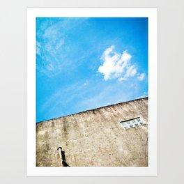 Blue and Grayy Art Print