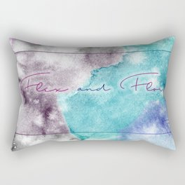 Flex and Flow - Tie Dyed, Water Colour, Motivation Rectangular Pillow