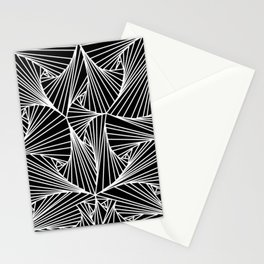 Black And White Line Drawing Illusion Art Stationery Cards
