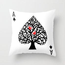 Ace of spade Throw Pillow