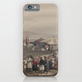 Vintage Print - The Holy Land, Vol 2 (1843) - Encampment of Pilgrims, Jericho iPhone Case