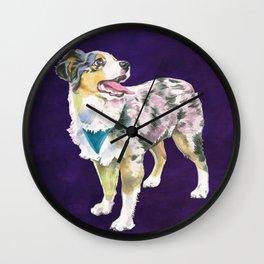 Toy Australian Shepherd Wall Clock