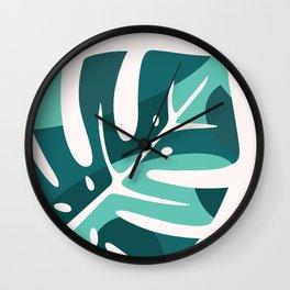 Modern Monstera Wall Clock