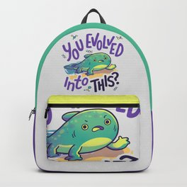 You Evolved Into This? // Evolution, Darwin, Biology, Nature Backpack