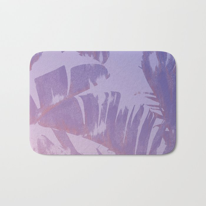 Tropical Sunset Banana Leaves Design Bath Mat
