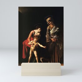 Madonna and Child with St. Anne by Caravaggio Mini Art Print