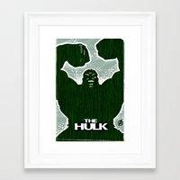 hulk Framed Art Prints featuring Hulk by Duke Dastardly