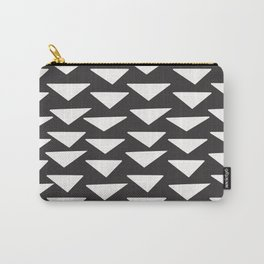 7-1010-0n-P1, White rounded triangles, big size, Carry-All Pouch