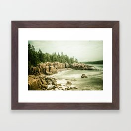 Acadia National Park Maine Rocky Beach Framed Art Print