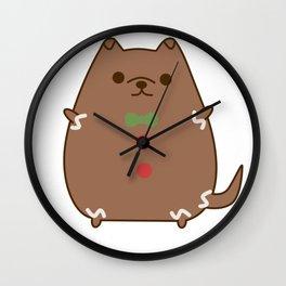 Cute Christmas Gingerbread Pupsheen Wall Clock