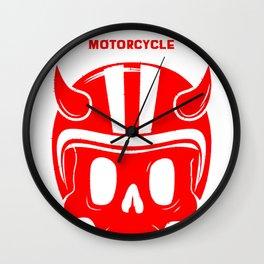 RACE FORTEVER MOTORCYLE RACE CLUBe Wall Clock