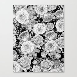 ROSES ON DARK BACKGROUND Canvas Print