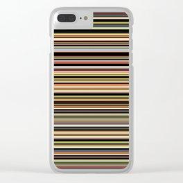 Old Skool Stripes - The Dark Side - Horizontal Clear iPhone Case
